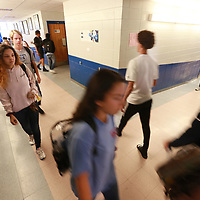 Students at Booneville High School make their way to their class Friday just days after U.S. and World Reports named their school one of the best high schools in the U.S. along with Oxford High School.