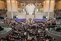12 FEB 2017, BERLIN/GERMANY:<br /> Uebersicht waehrend der Abstimmung, 16. Bundesversammlung zur Wahl des Bundespraesidenten, Reichstagsgebaeude, Deutscher Bundestag<br /> IMAGE: 20170212-02-083<br /> KEYWORDS: &Uuml;bersicht