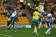 Leon Barnett heads for goal during a pre season friendly at Carrow Road stadium, Norwich...Picture by Paul Chesterton/Focus Images Ltd.  07904 640267.3/8/11