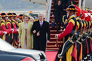 King PHilippe Queen Mathilde arriving for State visit Korea