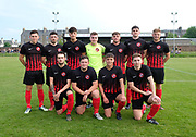 FC Kettledrum line up before facing DUMS in the Shaun Kelly Memorial Cup Final at North End Park, Dundee, <br /> <br /> <br />  - &copy; David Young - www.davidyoungphoto.co.uk - email: davidyoungphoto@gmail.com