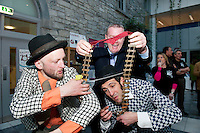 Galway launches 200 Gatherings ! Come home to Irelands Cultural Heart  with help of the Gombeens and President of the Chamber of Commerce Declan Dooley at Aras An Contae. Picture Andrew Downes.