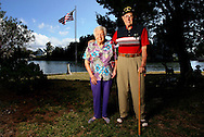 PT_346228_FITT_coffey_1.BRENDAN FITTERER  |  Times .(11/15/2011 HUDSON) .Jim and Millie Coffey got married 70 years ago this Pearl Harbor Day (2011) in Tampa. After a one-day honeymoon on the beach, he shipped off to war. .BRENDAN FITTERER  |  Times
