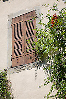 Wall with shutters