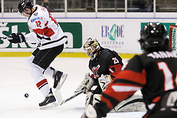 22.04.2010, Eishalle, IJssportcentrum, Tilburg, NED, IIHF Division I WM, Gruppe A, Österreich vs Japan im Bild Gregor Hager attempts the deflection, EXPA Pictures © 2010, PhotoCredit: EXPA/ Fintan Planting