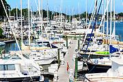 Docked sailboats, Annapolis, Maryland, USA