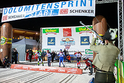 18.01.2019, Biathlonzentrum, Obertilliach, AUT, Dolomitenlauf, Dolomitensprint, im Bild v.l. Simonel Varesco (ITA), Niklas Liederer (AUT), Steafan Zelger (ITA), Daniel Mesotitsch (AUT) // during the sprint competition of the Dolomitenlauf at the Biathlonzentrum in Obertilliach, Austria on 2019/01/18. EXPA Pictures © 2019, PhotoCredit: EXPA/ Dominik Angerer
