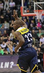 12.04.2015, Brose Arena, Bamberg, GER, Beko Basketball BL, Brose Baskets Bamberg vs EWE Baskets Oldenburg, Top Four 2015, Finale, im Bild Rickey Paulding ( EWE Baskets Oldenburg ) Jubelt nach einem 3er // during the Beko Basketball Bundes league TOP FOUR 2015 final match between Brose Baskets Bamberg and EWE Baskets Oldenburg at the Brose Arena in Bamberg, Germany on 2015/04/12. EXPA Pictures © 2015, PhotoCredit: EXPA/ Eibner-Pressefoto/ Langer<br /> <br /> *****ATTENTION - OUT of GER*****