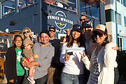 (front row) Chef Nick Liberto, Venice Whaler, daughter Bella, Davina Wong, Volunteer Coordinator, Surfrider, Tiffany Palazzini, Volunteer Coordinator, Surfrider, Sofia Milanka Ratcovich, (back row) Daisy Martinez, Founder, Trash Free Earth, ? blonde chef woman,  Darrell Preston, Operations, Venice Whaler, and TJ Williams Venice Whaler