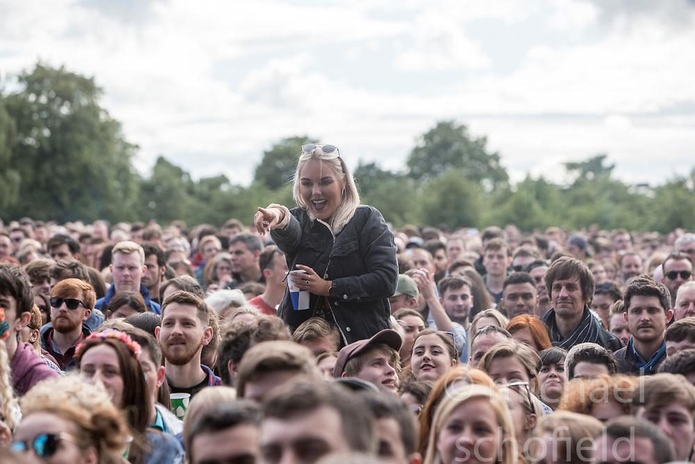 Hannah Reid of London Grammar on the main stage, Friday at TRNSMT music festival, Glasgow Green.