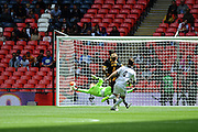 GOAL! Rob Purdie of Hereford FC scores and makes it 1-0 during the FA Vase match between Hereford FC and Morpeth Town at Wembley Stadium, London, England on 22 May 2016. Photo by Mike Sheridan.