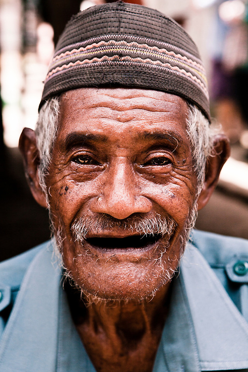 Local elder at fishing village located on Komodo Island.