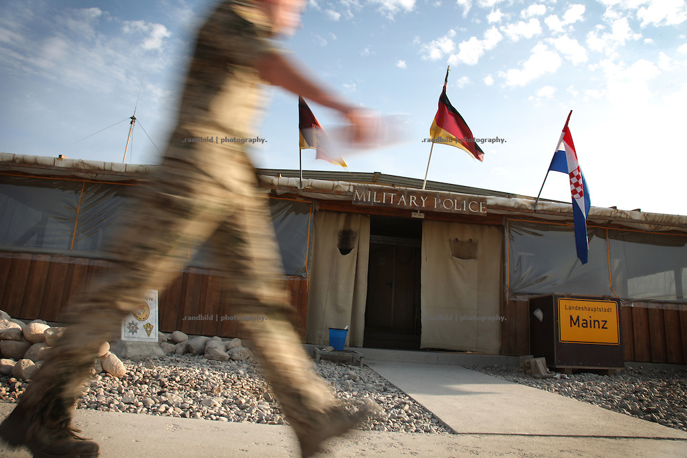 Department of german military police in Camp Marmal, Mazar-e Sharif