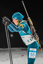 February 12, 2018 - Pyeongchang, Gangwon, South Korea - Anastasiya Merkushyna ofUkraine  competing at Women's 10km Pursuit, Biathlon, at olympics at Alpensia biathlon stadium, Pyeongchang, South Korea. on February 12, 2018. (Credit Image: © Ulrik Pedersen/NurPhoto via ZUMA Press)