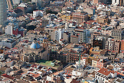 City view from the Castle Santa Barbara, Alicante, Costa Blanca, Spain,Europe