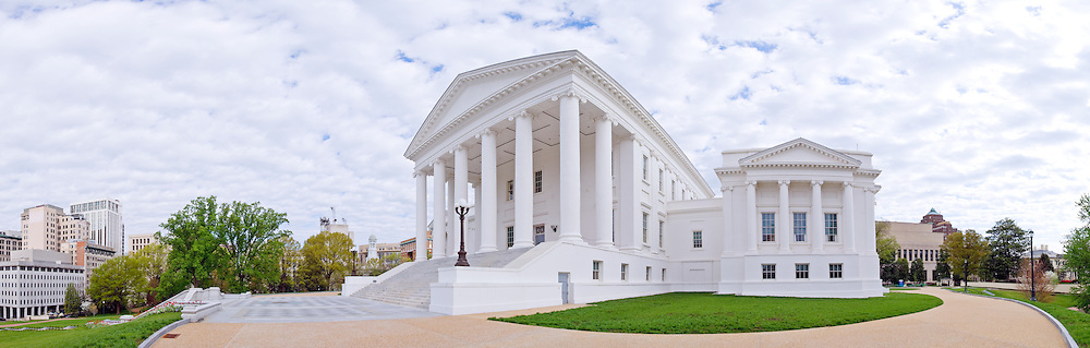 Virginia State Capitol in Richmond, Virginia. High resolution panorama.