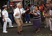 Senator Frank Lautenburg dances the Merenge with Norma Rosario along the route of the Statewide Hispanic Parade of New Jersey on Bergenline Ave from North  Bergen to Union City on 10/06/02.  JENNIFER BROWN/THE STAR-LEDGER