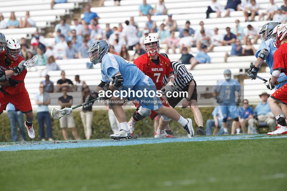 CHAPEL HILL, NC - MARCH 22: Brent Armstrong #47 of the North Carolina Tar Heels during a game against the Maryland Terrapins on March 22, 2014 at Kenan Stadium in Chapel Hill, North Carolina. North Carolina won 11-8. (Photo by Peyton Williams/Inside Lacrosse)