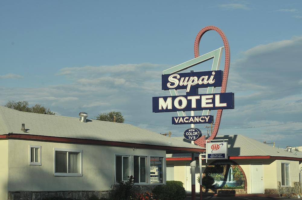 Historic Route 66, Seligman, Arizona, Motel Signage