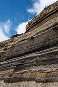 Rock sedimentary strata<br /> Chimborazo<br /> Cordillera Occidental, Andes<br /> ECUADOR, South America