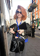 19.OCTOBER.2010. LONDON<br /> <br /> NICOLA ROBERTS ARRIVES AT DEAN STREET STUDIOS WEARING AMERICAN STYLE AVIATOR JACKET AND GLASSES FOR WORK ON HER FASHION LINE DAINTY DOLL.<br /> <br /> BYLINE: EDBIMAGEARCHIVE.COM<br /> <br /> *THIS IMAGE IS STRICTLY FOR UK NEWSPAPERS AND MAGAZINES ONLY*<br /> *FOR WORLD WIDE SALES AND WEB USE PLEASE CONTACT EDBIMAGEARCHIVE - 0208 954 5968*