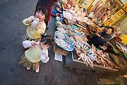 Haeundae Beach. The street market. Seafood.