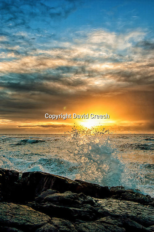 Sunrise at Punalu'u Black Sand Beach in Hawaii