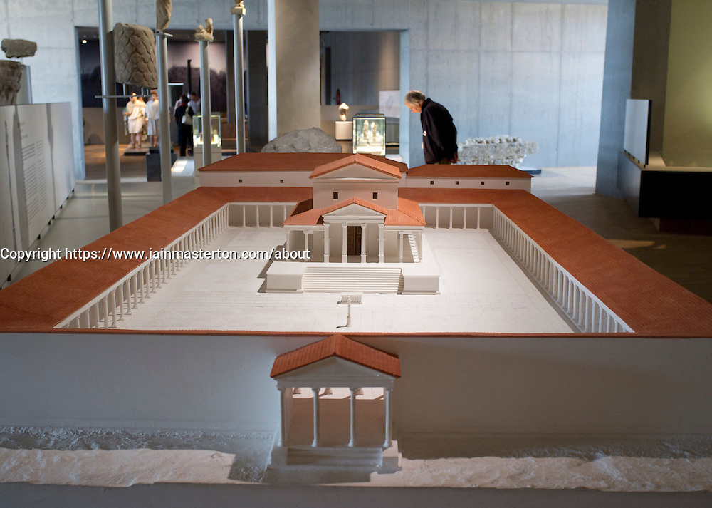 Exhibit inside the new Gallo-Roman Museum in Tongeren in Belgium