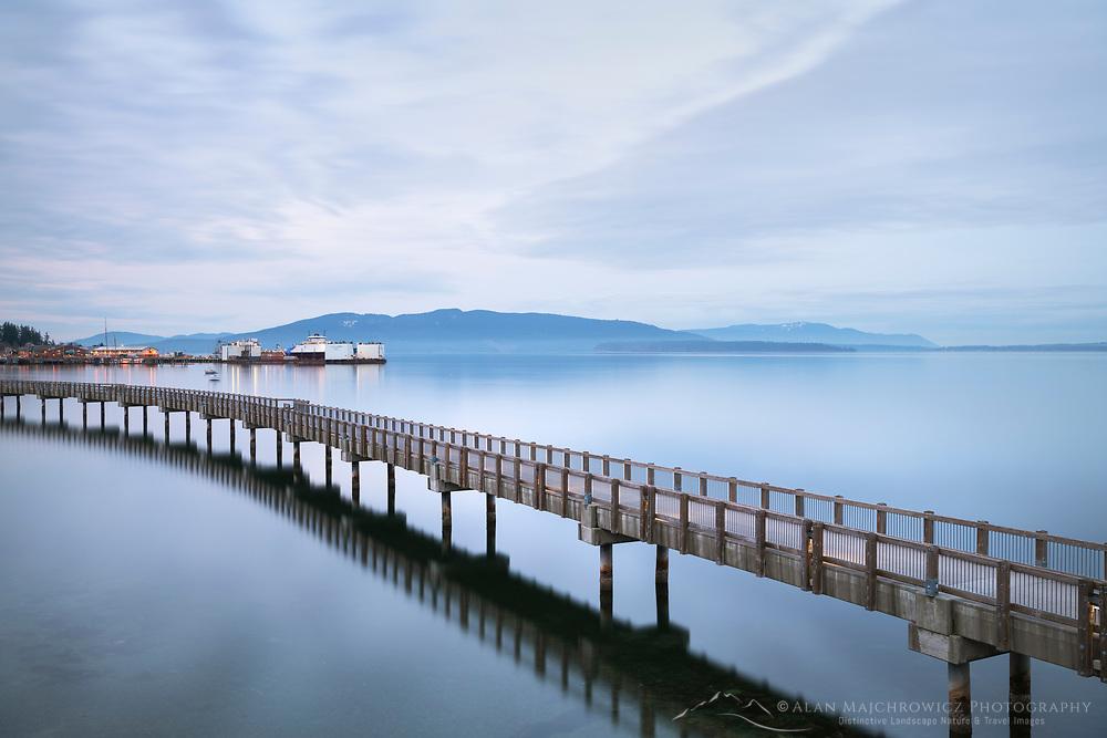 Boulevard Park Boardwalk, Taylor Dock, on Bellingham Bay, Bellingham Washington