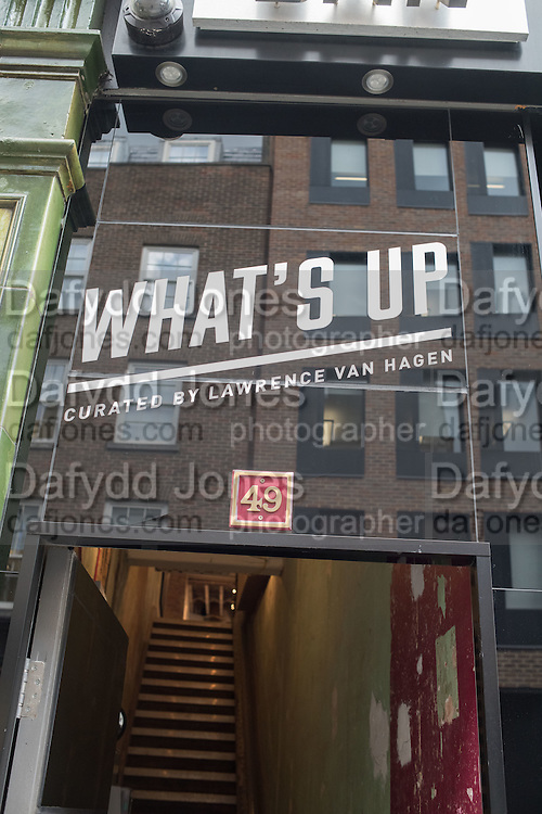 "WHAT'S UP"": Private View, Wednesday 13th April, 6-9pm at Soho Revue, 14 & 49 Greek Street, London. 13 April 2016."