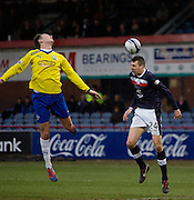 Dundee's Colin Nish heads his side's third goal - Dundee v Greenock Morton, William Hill Scottish Cup 5th Round at Dens Park .. - © David Young - www.davidyoungphoto.co.uk - email: davidyoungphoto@gmail.com