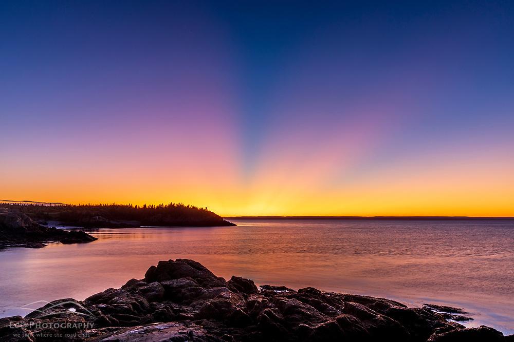 Dawn in the Hamilton Cove Preserve in Lubec, Maine.