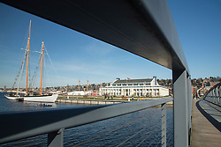 North America, United States, Washington, Seattle, Lake Union, Lake Union Park and Museum of History and Industry (MOHAI)