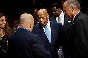 "Rep. JOHN LEWIS (D-GA)  prepares to testify before a Senate Judiciary Committee hearing on the ""Respect for Marriage Act: Assessing the Impact of DOMA (Defense of Marriage Act) on American Families,"" to repeal DOMA and restore the rights of all lawfully married couples, including same-sex couples, to receive the benefits of marriage under federal law."
