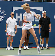 Steffi Graf takes part in a charity skills competition during 'Arthur Ashe Kids Day' before the 2006 U.S. Open at the USTA National Tennis Center in New York August 26, 2006. The U.S. Open starts on August 28. .