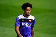 Troy Brown (39) of Exeter City warming up before the EFL Sky Bet League 2 match between Exeter City and Lincoln City at St James' Park, Exeter, England on 19 August 2017. Photo by Graham Hunt.