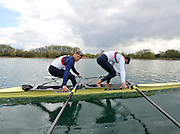 Caversham, Great Britain. GBR  M2X, Sam TOWNSEND and Bill LUCAS  2012 GB Rowing World Cup Team Announcement Wednesday  04/04/2012  [Mandatory Credit; Peter Spurrier/Intersport-images]