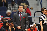 Ole Miss coach Matt Insell vs. Tennessee Martin Skyhawks in a WNIT game in Oxford Miss. on Wednesday, March 18, 2015. Ole Miss won 80-70. (AP Photo/Oxford Eagle, Bruce Newman)