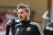 Sheffield United defender Kieron Freeman during the Sky Bet League 1 match between Bradford City and Sheffield Utd at the Coral Windows Stadium, Bradford, England on 20 September 2015. Photo by Simon Davies.