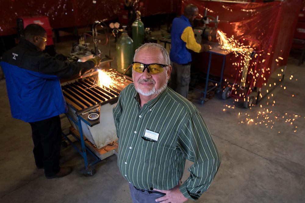 "Faculty Expert Environmental Portraits - Welding and Joining Technology: Welding and Joining Technology Department Head Wm. ""Bill"" Burns on the Savannah Campus, Wednesday April 22, 2015 in Savannah, Ga. (STC Photo/Stephen B. Morton)"