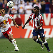 Miller Bolanos, Chivas USA, in action during the New York Red Bulls V Chivas USA Major League Soccer match at Red Bull Arena, Harrison, New Jersey, 23rd May 2012. Photo Tim Clayton