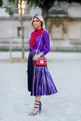 Street style, blogger Lala Rudge arriving at Barbara Bui Spring Summer 2017 show held at Grand Palais, in Paris, France, on September 29, 2016. Photo by Marie-Paola Bertrand-Hillion/ABACAPRESS.COM