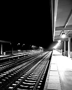 The Amtrak platform at Baltimore Washington International Airport in Maryland, shot before dawn. I felt like the last human on earth on that platform.