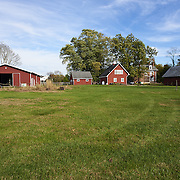 CREAM RIDGE, NJ - OCTOBER 29, 2016: The property includes 11 acres of land with seven out buildings. Pictured from left to right: the pole barn, two-car garage with finished loft, double-sided corn crib with attached chicken coop, the rear of the home and a workshop. 92 Holmes Mill Rd, Cream Ridge, NJ. Credit: Albert Yee for the New York Times