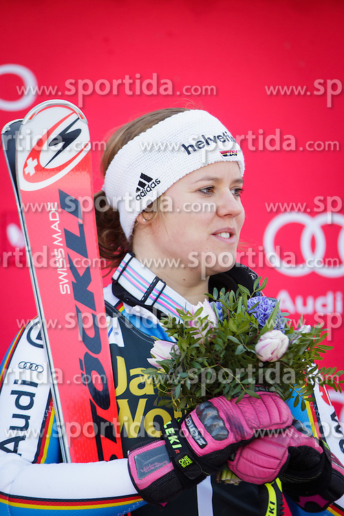 Viktoria Rebensburg (GER) during flower ceremony after the 7th Ladies' Giant slalom at 52nd Golden Fox - Maribor of Audi FIS Ski World Cup 2015/16, on January 30, 2016 in Pohorje, Maribor, Slovenia. Photo by Ziga Zupan / Sportida