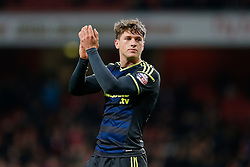 Adam Reach of Middlesbrough  applauds the away support after Arsenal win 2-0 - Photo mandatory by-line: Rogan Thomson/JMP - 07966 386802 - 15/02/2015 - SPORT - FOOTBALL - London, England - Emirates Stadium - Arsenal v Middlesbrough - FA Cup Fifth Round Proper.