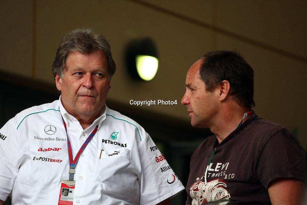 &copy; Photo4 / LaPresse<br /> 19/04/2012 Sakhir<br /> Sport <br /> Grand Prix Formula One  Bahrain-Sakhir 2012<br /> In the pic: <br /> Norbert Haug (GER), Mercedes, Motorsport Chief and Gerard Berger (Aut)