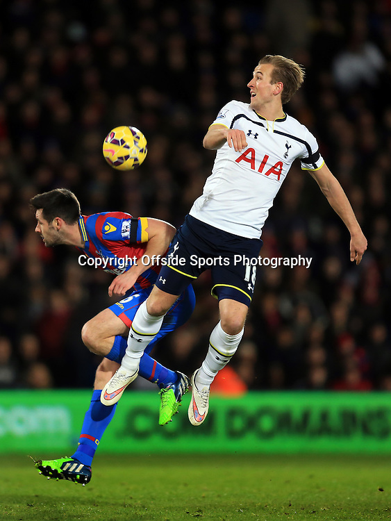 10 January 2015 - Barclays Premier League - Crystal Palace v Tottenham Hotspur - Harry Kane of Tottenham Hotspur in action with Scott Dann of Crystal Palace - Photo: Marc Atkins / Offside.