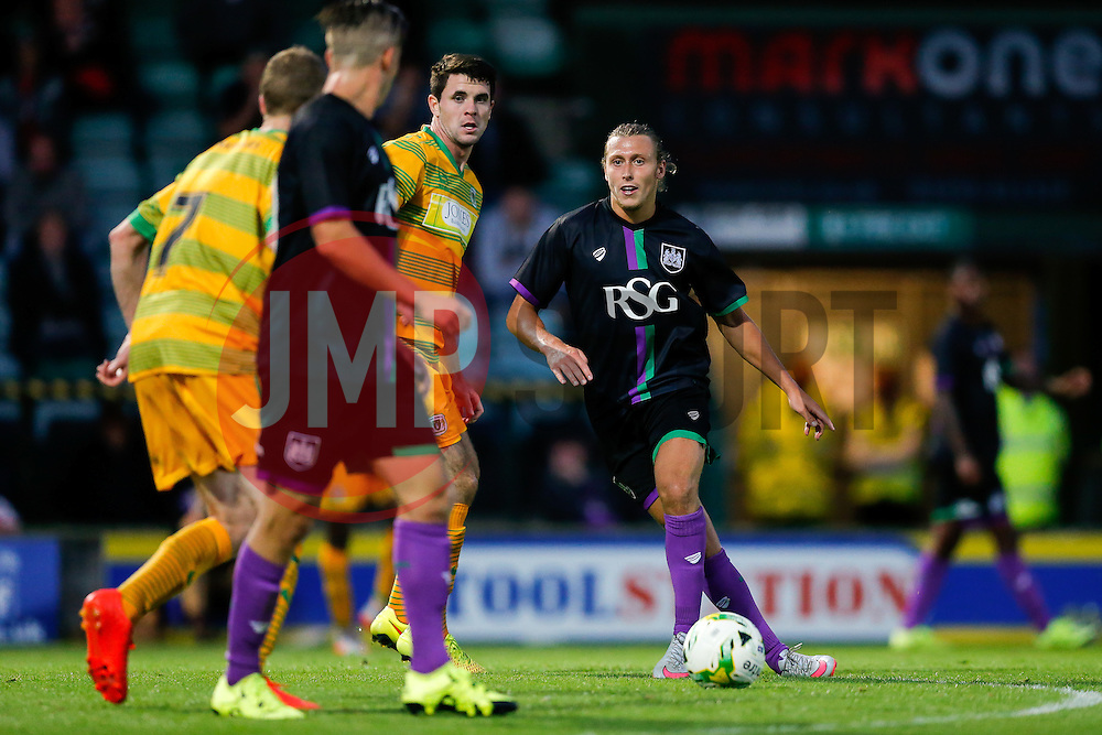 Luke Freeman of Bristol City in action - Mandatory byline: Rogan Thomson/JMP - 07966 386802 - 30/07/2015 - FOOTBALL - Huish Park Stadium - Yeovil, England - Yeovil Town v Bristol City - Pre Season Friendly.