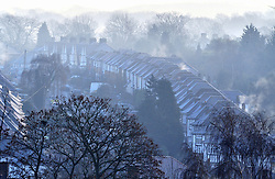 © Licensed to London News Pictures. 28/12/2016<br /> Freezing foggy weather this morning over Orpington,Kent.<br /> Photo credit :Grant Falvey/LNP